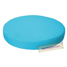 "Aqua 15"" Circular Round Water Resistant Garden Chair Dining Bistro Pad Cushion"