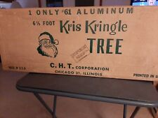 Kris Kringle Aluminum Christmas Tree 6 1/2' With 43 Branches