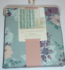 New Lauren Conrad Bouquet Floral Fabric Shower Curtain 100% Cotton NWT