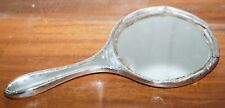 Sólido Sterling 1915 caracteriza completamente Espejo De Mano Antiguo Marco de aspecto envejecido