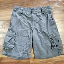 Under Armour Cargo Shorts Gray Boys MEDIUM Ripstop