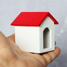 IG_ 1/12 Wooden Dog House Model Toy Desktop Decor DIY Doll House Home Ornament E