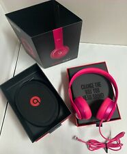 Original Beats by Dr. Dre Solo 2 Wired On-Ear Headphones Hot Pink Exc Condition