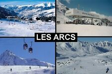 SOUVENIR FRIDGE MAGNET of LES ARCS FRANCE SKIING