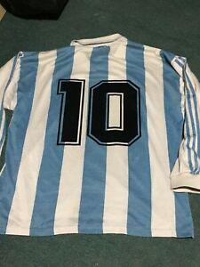 ARGENTINA 1994 MARADONA  L/S UNIQUE VINTAGE AUTHENTIC JERSEY  !