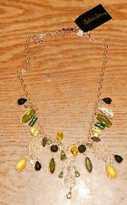 COOKIE LEE Necklace Stunning Gold & Greens NWT Adjustable Size
