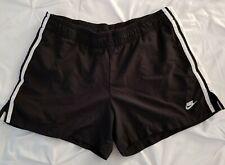 Nike Womens Running Shorts Black White Stripes Size S Small