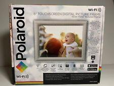 "Polaroid 8"" Touchscreen Wi-Fi Digital Picture Frame - Silver Metal Frame NEW OB"