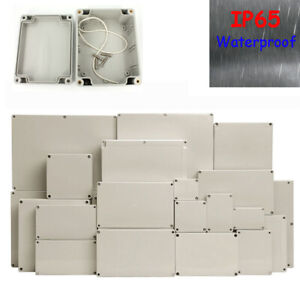 Waterproof ABS Electronic Project Enclosure Plastic Case Screw Junction Box IP65