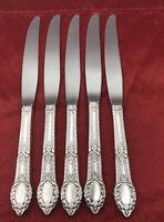 WM A. Rogers AA Heavy Oneida LTD Silver Plate Rendezvous Pattern Knives Set Of 5