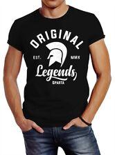 Gladiator Sparta Fighter Original Legends Streetwear Herren T-Shirt Slim Fit