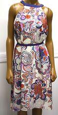 Liberty of London Pleated Sun Dress Jumper Print Blue Purple Target Medium
