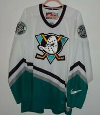 Nike NHL Anaheim Mighty Ducks Jersey Size L Embroided Logos Made In Canada VGC