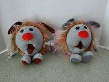The Big Comfy Couch Plush Fuzzy & Wuzzy Dust Bunnies 1995 Commonwealth