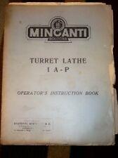 Minganti Turret Lathe 1 AP Operator Manual/Instruction