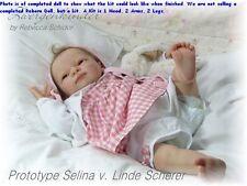 REBORN DOLL KIT, SELINA BY LINDE SCHERER, SOFT LIGHT SKIN VINYL DOLL KIT