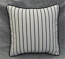"Pillow made w Ralph Lauren Palm Harbor Stripe Navy Blue & White Fabric 16"" cord"
