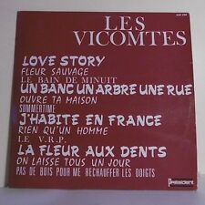 """33T LES VICOMTES Disque Vinyle LP 12"""" LOVE STORY - PRESIDENT 256 Frais Reduit"""