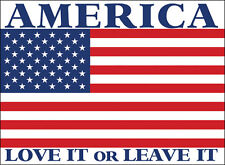 9x12 inch LARGE America Love It or Leave It Sticker - decal american usa us flag