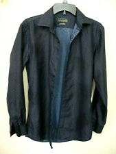 Men's Black Label By Ruffini Italy Button Down Long Sleeve Size.S Slim Fit