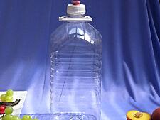 Plastic PET Demijohn with rubber grommet & FREE AIRLOCK