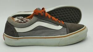 Vans Off The Wall Old Skool Low Canvas/Suede Trainers Grey UK7/US8/EU40.5