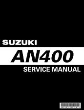 Suzuki Burgman 400 AN400 2007 2008 2009 2010 2011 2012 service manual on CD