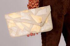 80s Vintage patch work snakeskin clutch bag by CAPRICE