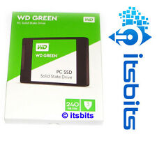 "WESTERN DIGITAL 240GB SSD SATA 3 6Gb/s 2.5"" 7MM SOLID STATE FLASH GREEN 3YR WTY"