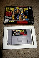 Ninja Gaiden Trilogy (Super Nintendo SNES, 1995) with Box FAIR