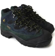 COTTON TRADERS CAM TEX GREEN  & BLUE SUEDE HIKING BOOTS SIZE UK 6