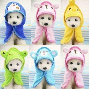 Pet Cat Dog Animal Cartoon Design Towel Bath Robe Dressing Gown Pajamas 5 Colors