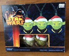 "New Star Wars ""Yoda"" Holiday 10 Light Set - Indoor/Outdoor"