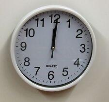 """WHITE KITCHEN WALL CLOCK 7"""" -  MADE BY KOLE  102-1W"""