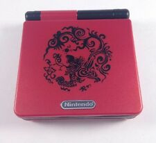 New! Custom Gameboy Advance SP-Brighter!-Dragon Red & Black-AGS-101- Mint!