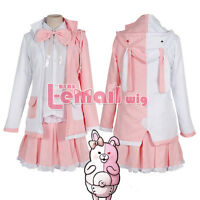 Danganronpa Dangan-Ronpa 2 Monomi mix Black/White Cosplay Costume Outfits