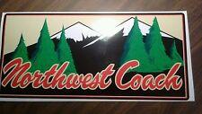 Northwest Coach Travel Trailer Vintage style decal self adhesive vinyl color