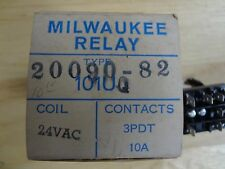 MILWAUKEE 3PDT 20090-82, 24 VOLT AC RELAY, 20090 82 NEW IN THE BOX (3B)