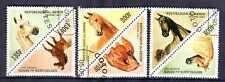 Chevaux Bénin (1) série complète de 6 timbres oblitérés