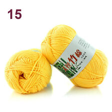 SALE LOT OF 1 Ball X 50g NEW Chunky Hand-woven Milk Cotton HAND Knitting Yarn MX
