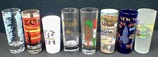 lot of (8) vintage collectible TEQUILA TRAVEL SHOT GLASSES Souvenirs w/ graphics