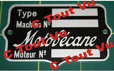 PLAQUE CONSTRUCTEUR ECUSSON MOTOBECANE 20-30's - VIN PLATE MOTOBECANE 20-30's