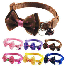 6X Bow Tie Cat Collar Extra Small Pet Breakaway Adjustable Collar Safty Buckle