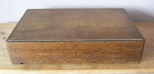 LARGE HEAVY EMPTY WOODEN CUTLERY CANTEEN BOX IN GOOD CONDITION