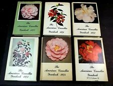 Vintager HC Book 6 Lot The American Camellia Society Yearbook 1970-1974 Flowers