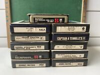 Vintage Country Pop Rock Variety 8 Track Tapes Lot Of 10 + Sleeves Untested 006