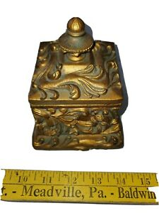 Wide Copper Bronze Royal Key Decorative Box