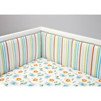 Juba Traditional Padded Crib Bumper by Zutano Blue Stripes