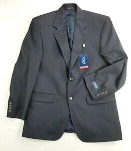 Chaps Wool Mens 40R Sports Coat Dark Navy 2 Button Blazer Vented New