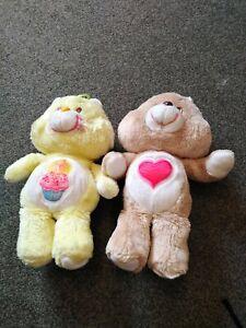 2 Care Bears Tender Heart  And Birthday Bear Plush Teddy